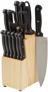 AmazonBasics 14-Piece Kitchen Knife Set