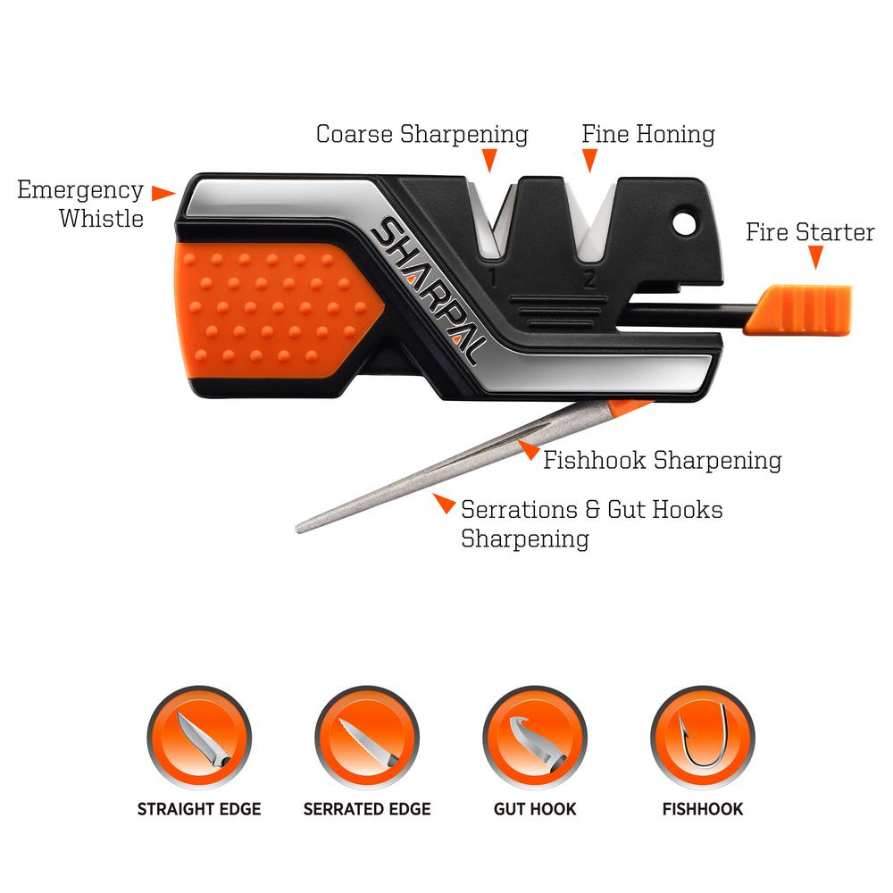 Sharpal 6-In-1 Pocket Knife Sharpener